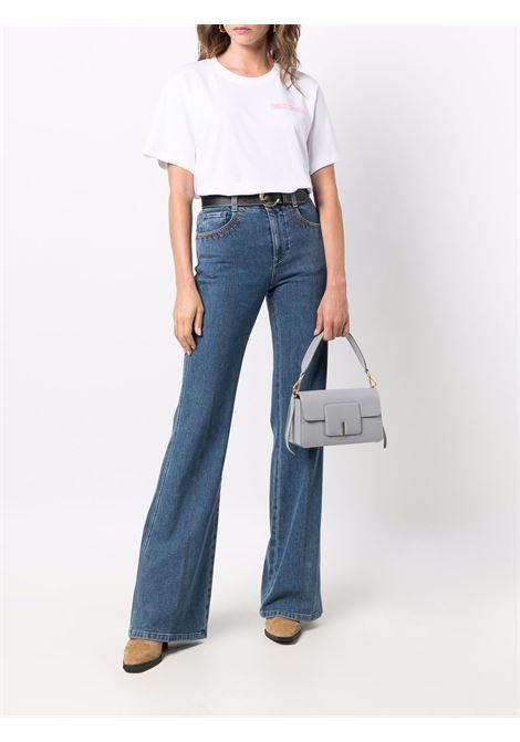 T-shirt a girocollo con logo in bianco - donna RODEBJER | 23101611000