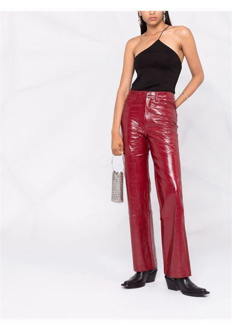 Pantaloni lucidi a gamba larga in rosso - donna ROTATE   RT409191934