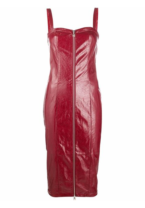 Abito midi con zip in rosso -donna ROTATE   RT412191934