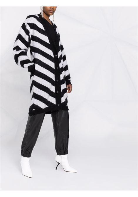 Cardigan con motivo chevron in bianco e nero - donna ROTATE | RT4291000