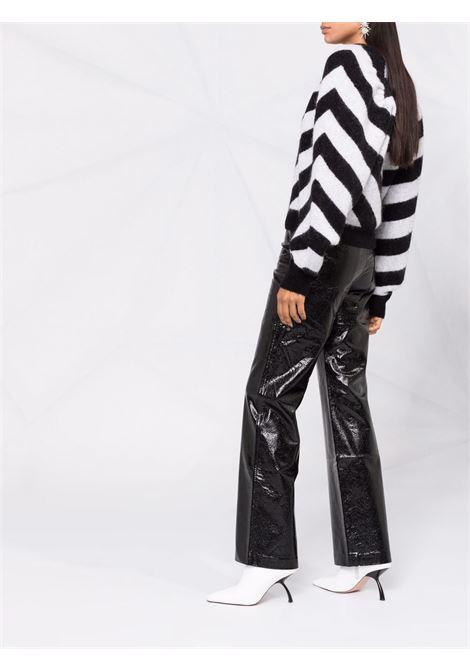 Maglione con motivo chevron in bianco e nero - donna ROTATE | RT4311000