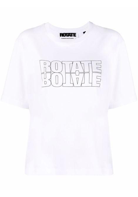 T-shirt a girocollo con logo - donna ROTATE | RT443110601