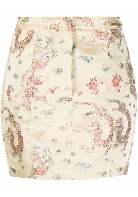 Minigonna con stampa in crema - donna ROTATE | RT647130607