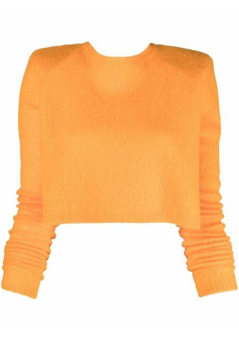 Maglione con scollatura posteriore in arancione - donna ROTATE | RT690151157