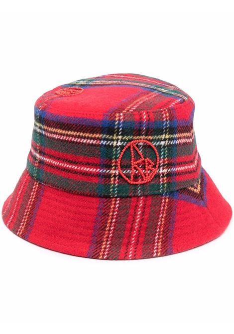 Cappello bucket con motivo tartan multicolore - donna RUSLAN BAGINSKIY | BCT034WPPLDRD
