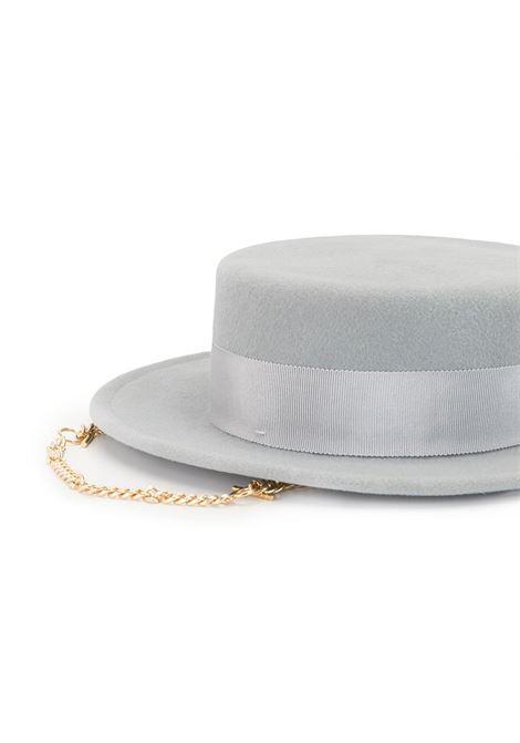 Cappello fedora con catena in grigio - donna RUSLAN BAGINSKIY | CNT031FPRSCHAGRY