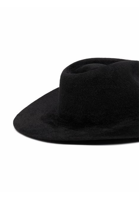 Cappello fedora con piercing in nero - donna RUSLAN BAGINSKIY | FDR033FPRSCHARBBLK