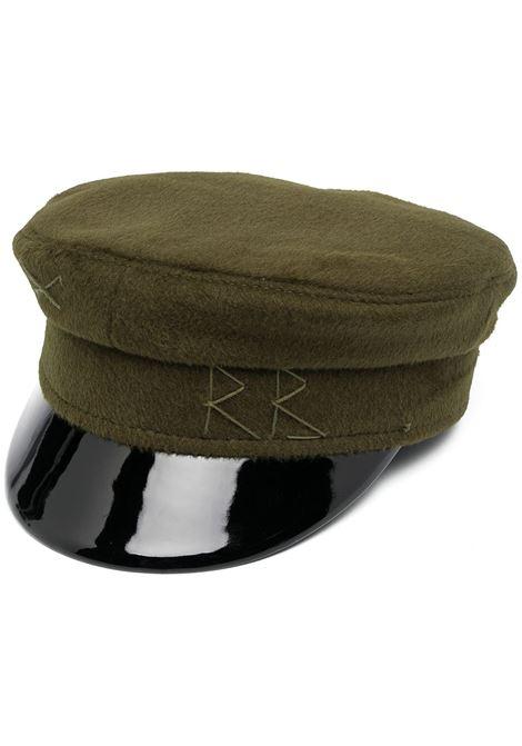 Cappello baker boy con ricamo in verde - donna RUSLAN BAGINSKIY | KPC007WGRN