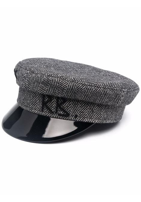 Cappello baker boy con logo in grigio - donna RUSLAN BAGINSKIY | KPC030WYOGRY