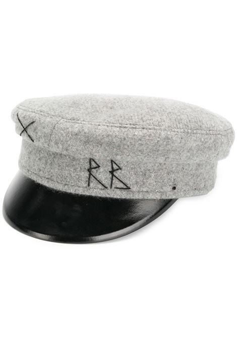 Cappello baker boy con ricamo in grigio - donna RUSLAN BAGINSKIY | KPC031WGRY
