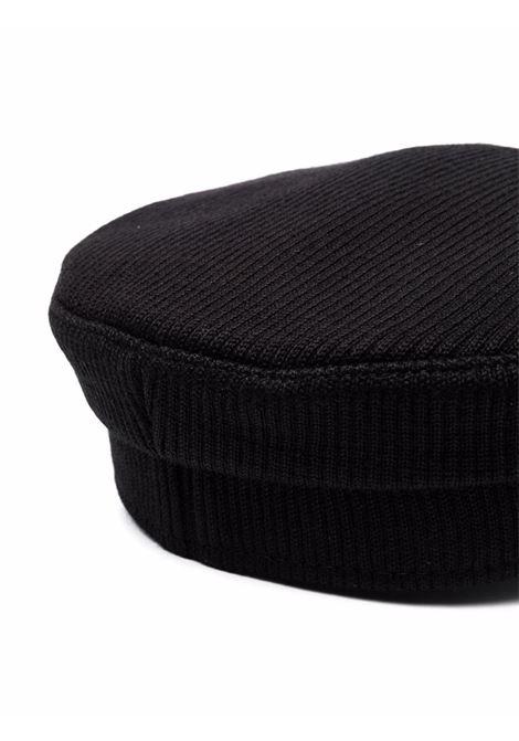 Cappello baker boy con bordo sfrangiato in nero - donna RUSLAN BAGINSKIY | KPC033CABHRBLK