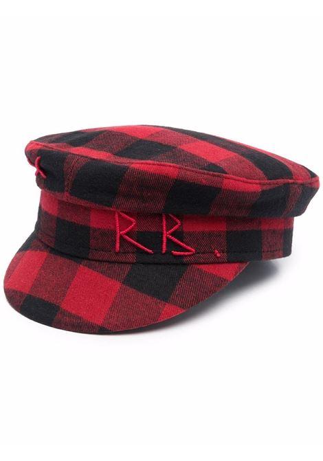 Cappello baker boy a quadri in rosso e nero - donna RUSLAN BAGINSKIY | KPC034033WPPLDRD