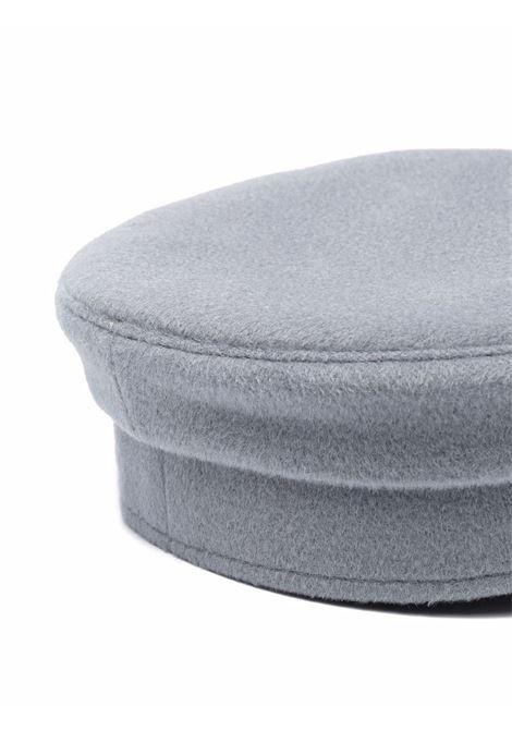 Cappello baker boy con logo in grigio - donna RUSLAN BAGINSKIY | KPC131078WSUGRY