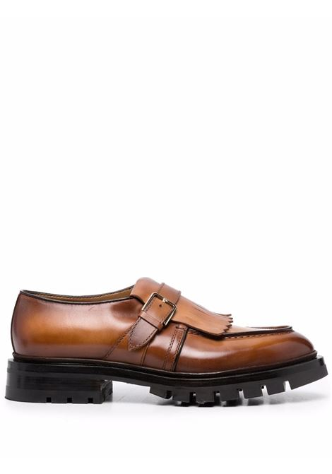 Fringe-flap derby shoes in brown - men  SANTONI | MCCO17742MM4HFULM40