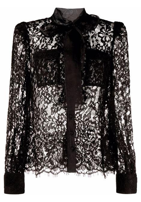 Blusa in pizzo a fiori in nero - donna SELF-PORTRAIT | AW21014BLK