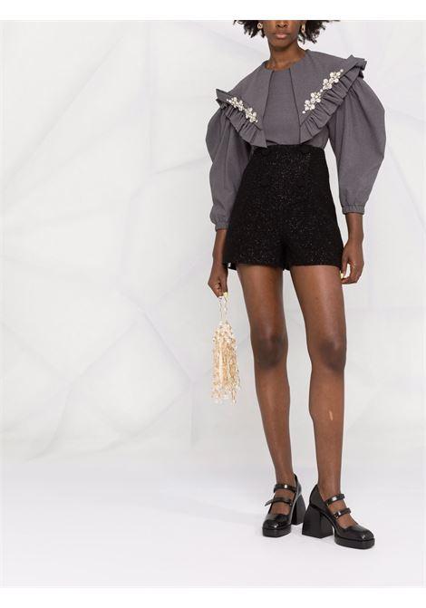 Shorts a vita alta in nero -donna SELF-PORTRAIT | AW21061SBLK