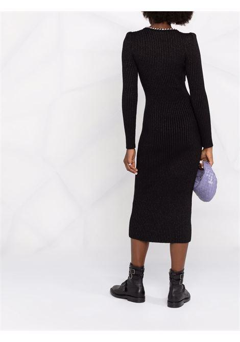 Abito a contrasto nero- donna SELF-PORTRAIT | AW21065MBLK