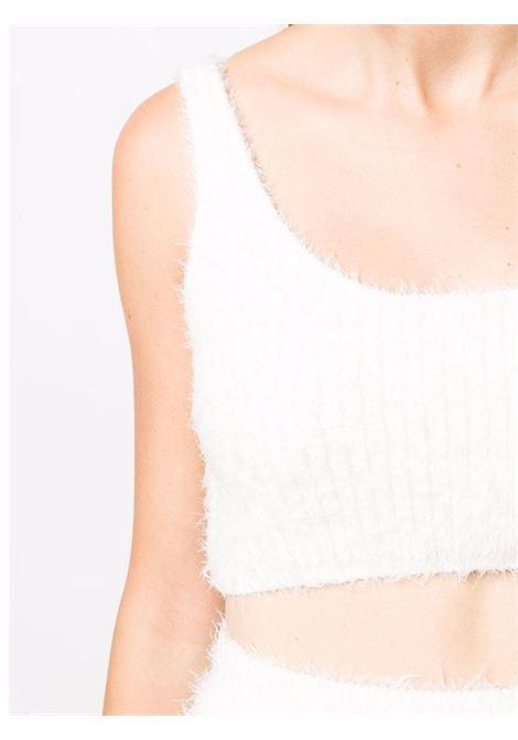 Top crop con design soffice in bianco - donna SELF-PORTRAIT | AW21070TWWHT