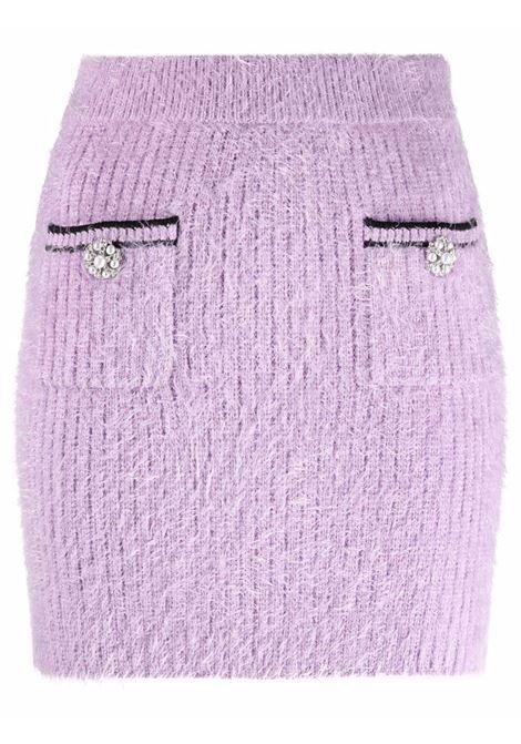 Minigonna con design soffice in lilla - donna SELF-PORTRAIT | AW21072LLC