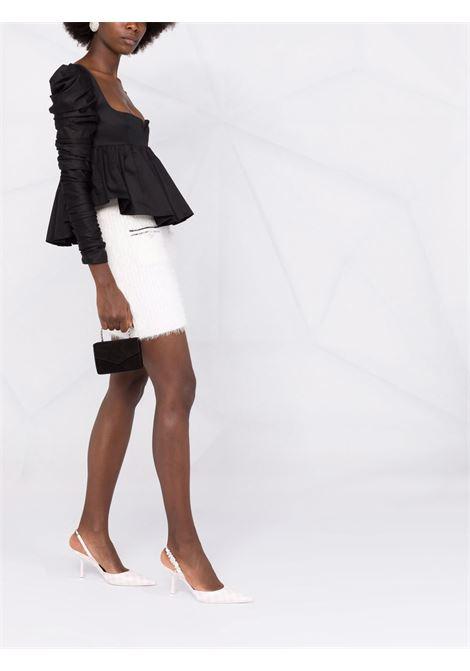 Minigonna con design soffice in bianco - donna SELF-PORTRAIT | AW21072WWHT