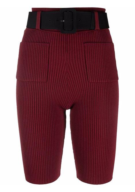 Shorts a coste con cintura in bordeaux - donna SELF-PORTRAIT | AW21109COXBLD