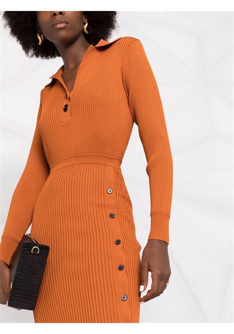 Abito modello polo arancione- donna SELF-PORTRAIT | AW21119CNNMN