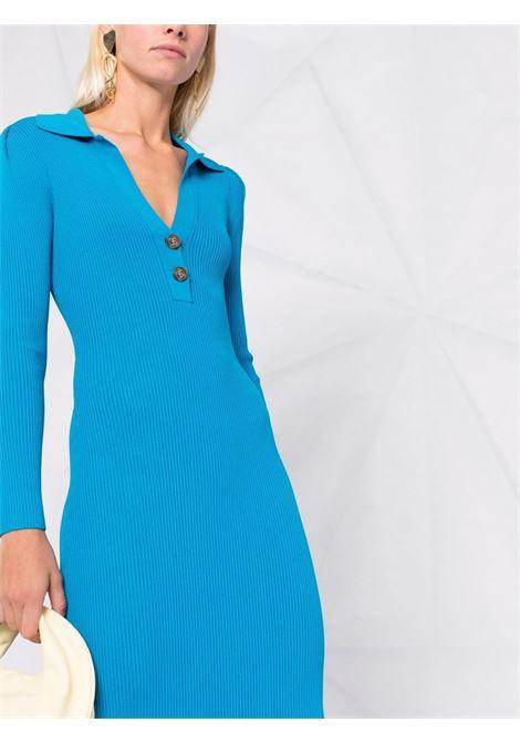 Vivid blue ribbed midi dress - women  SELF-PORTRAIT   AW21135BVVDBL