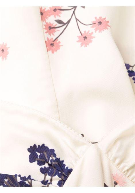 Tuta corta con design a fiori in bianco - donna SELF-PORTRAIT | AW21148IVRY