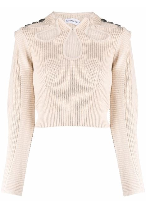 Cut-out detail knitted jumper SELF-PORTRAIT | Sweaters | PF21001DSND