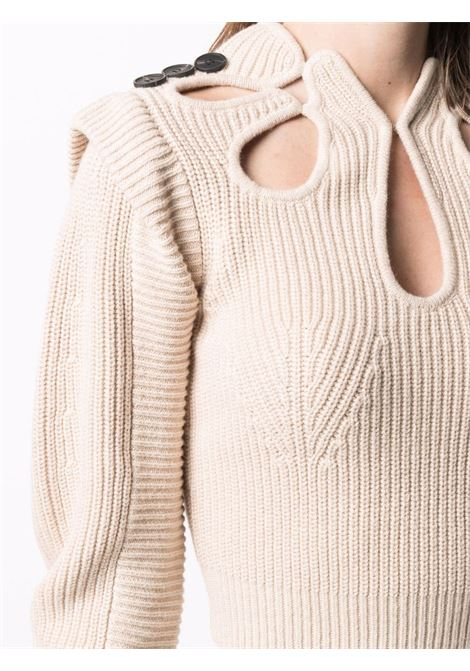 Cut-out detail knitted jumper SELF-PORTRAIT   PF21001DSND