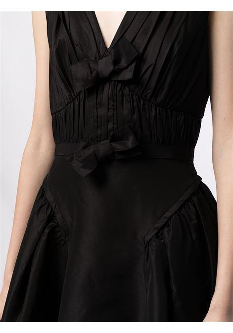 Abito smanicato con fiocco in nero - donna SELF-PORTRAIT | PF21023MBLK