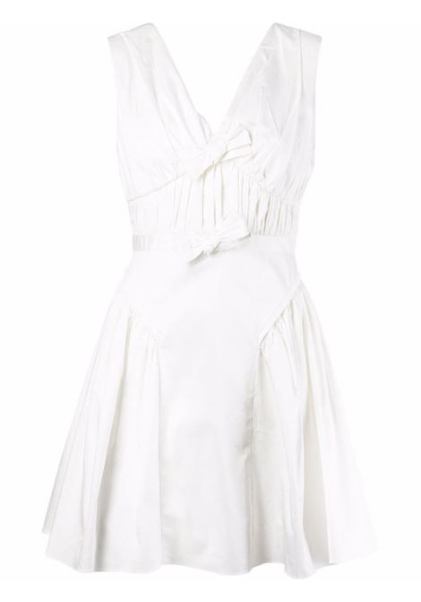 White bow detail flared dress - women SELF-PORTRAIT | Dresses | PF21023WWHT