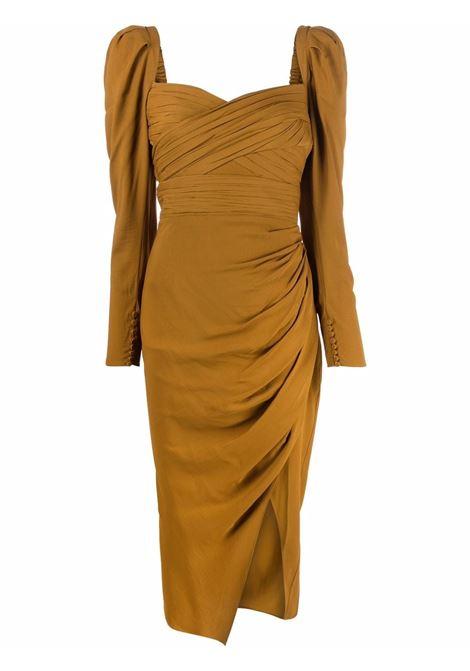 Draped dress ocher - women  SELF-PORTRAIT | Dresses | PF21031MATPND
