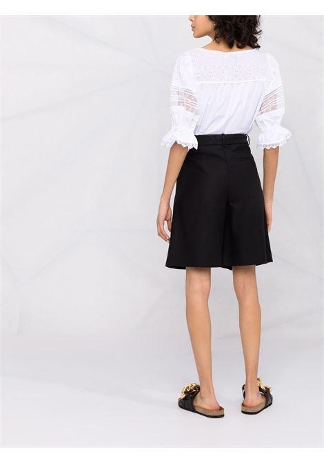 Broderie anglaise-detailed blouse white -women SELF-PORTRAIT   PF21047TAWHT