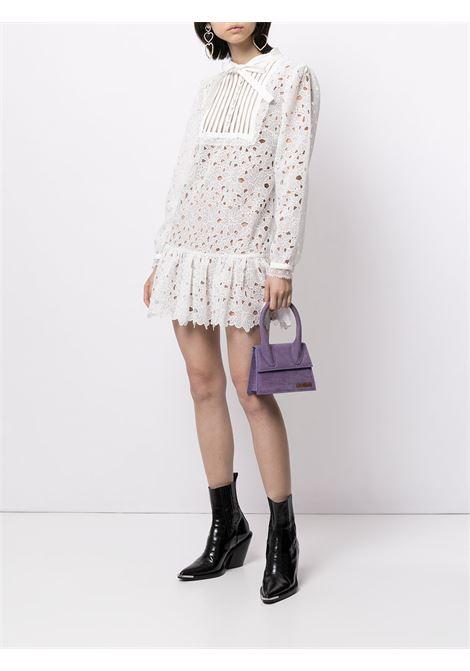 Bib detail lace dress white - women SELF-PORTRAIT   PF21104WHT