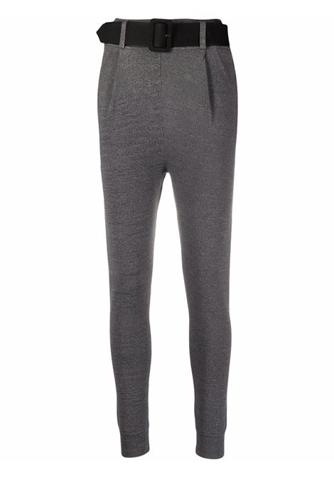 Belted tailored-style leggings stone grey - women SELF-PORTRAIT | Leggings | PF21122AGRY
