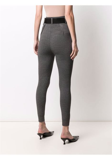 Belted tailored-style leggings stone grey - women SELF-PORTRAIT   PF21122AGRY