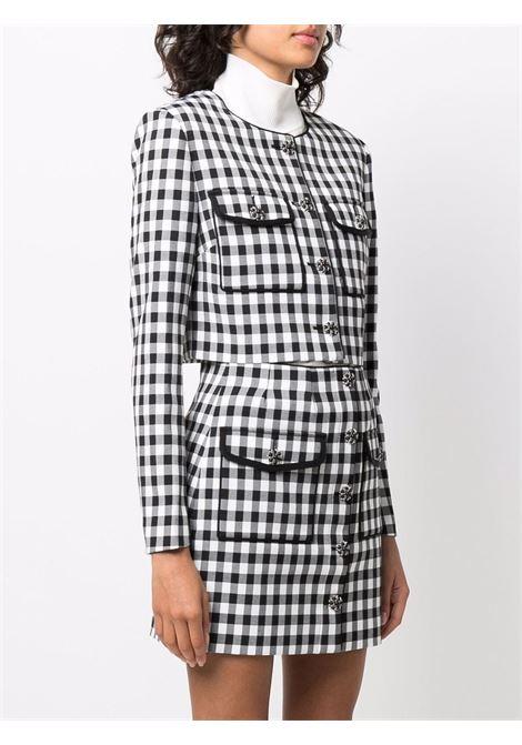 Gingham-print blazer in black - women  SELF-PORTRAIT   SC21006MNCHRM
