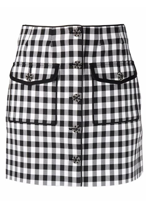 Gingham-print skirt in black and white - women  SELF-PORTRAIT   SC21007MNCHRM