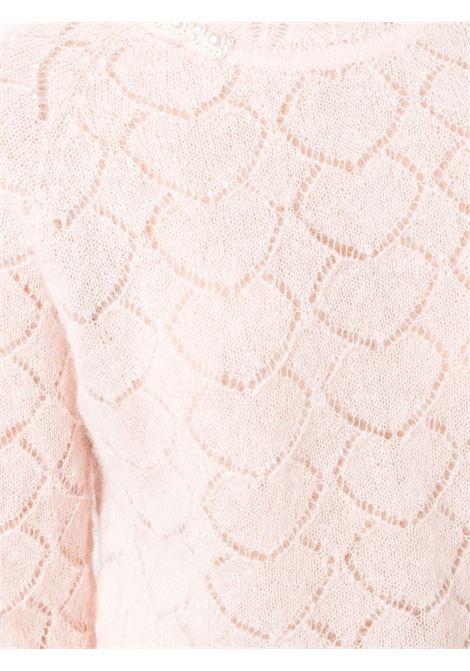 Maglia con ricamo rosa- donna SIMONE ROCHA | AMK1B0643BBYPNKPRL