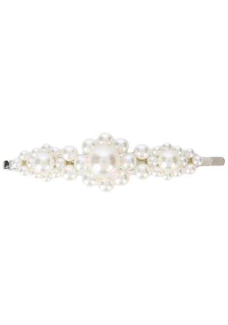 Pearl embellished hair clip in white - women  SIMONE ROCHA | CLP30904PRL