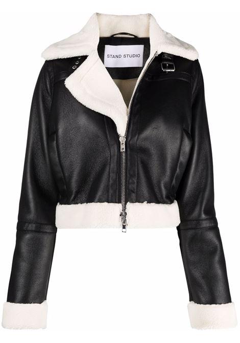 Giacca biker crop in nero - donna STAND STUDIO | 61055962089900