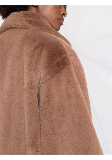 Cappotto midi in eco-pelliccia in tortora - donna STAND STUDIO | 61122907010600