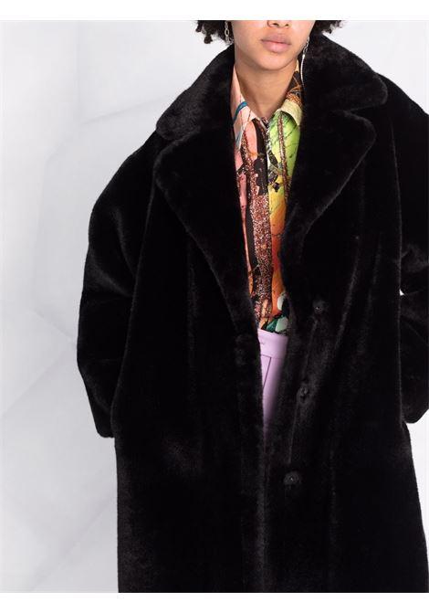 Cappotto midi in eco-pelliccia in nero - donna STAND STUDIO | 61122907089900
