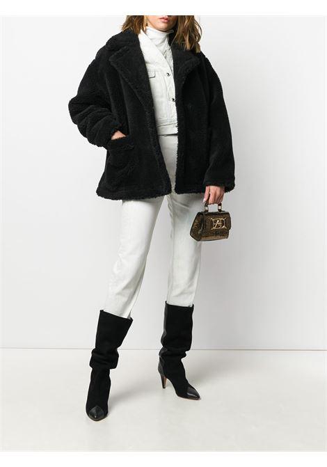 Cappotto oversize in shearling in nero - donna STAND STUDIO | 61183904089900
