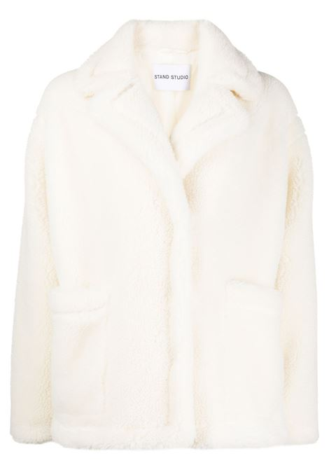 Cappotto oversize in shearling in bianco - donna STAND STUDIO | 61183904090000