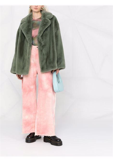 Finta pelliccia oversize in verde menta - donna STAND STUDIO | 61477954050130
