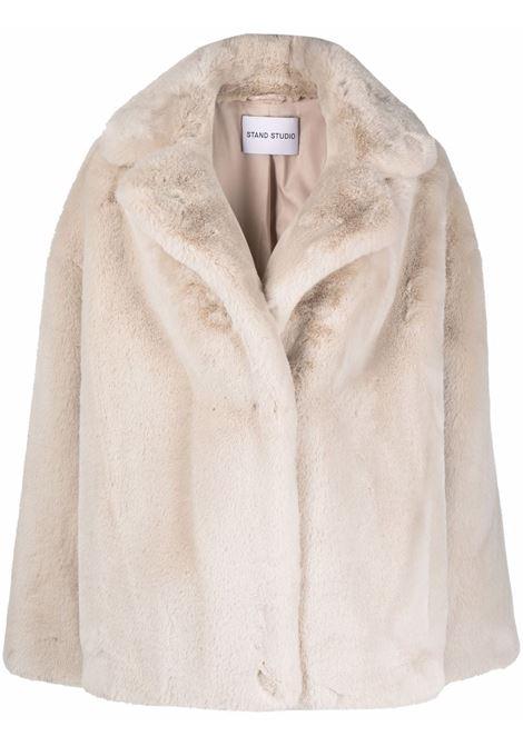 Finta pelliccia oversize in bianco - donna STAND STUDIO | 61477954096000