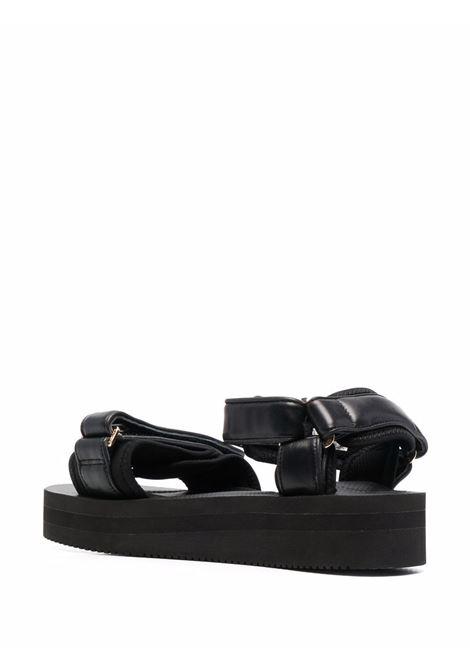 Sandali con chiusura a strappo e plateau in nero - donna SUICOKE X TOM WOOD | OG064VPOTWBLK