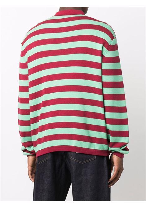T-shirt a righe in rosso e verde - uomo SUNNEI | P02BRDX